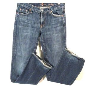 7 For All Mankind Bootcut Wide Leg Blue Jeans